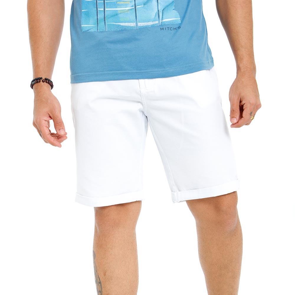 Bermuda Sarja Masculina Bamborra Tradicional Branca