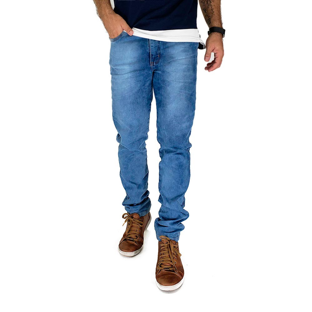 Calça Jeans Clara Estonada Masculina Bamborra Premium