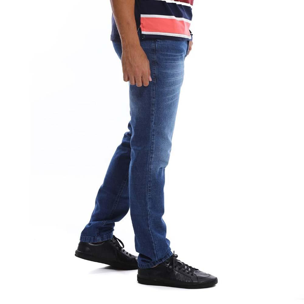 Calça Jeans Masculina Tradicional Azul Bamborra