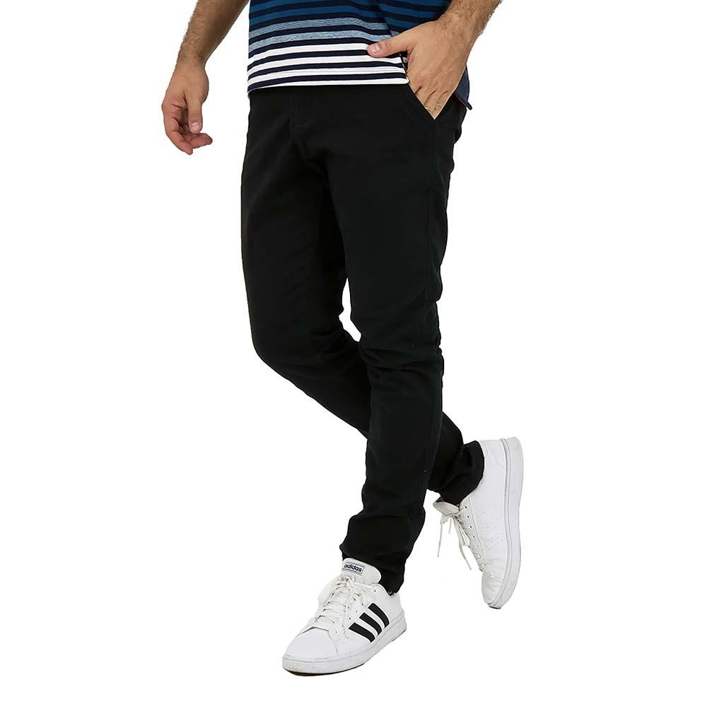 Calça Preta Masculina Esporte Fino Sarja Com Elastano
