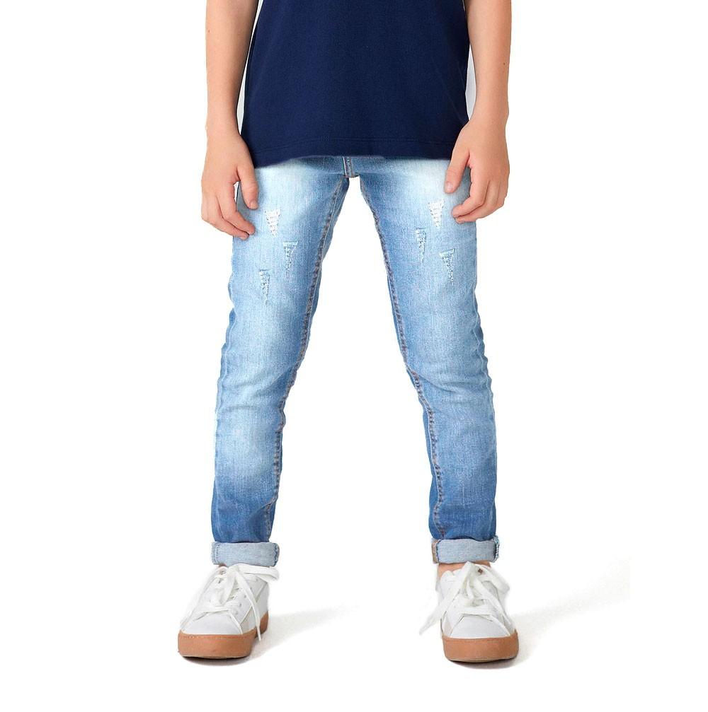 Calças Jeans Infantil Para Meninos de 2 a 16 Anos
