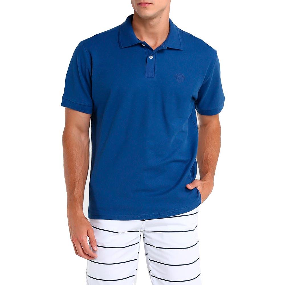 Camisa Polo Piquet Masculina Lisa Azul Royal
