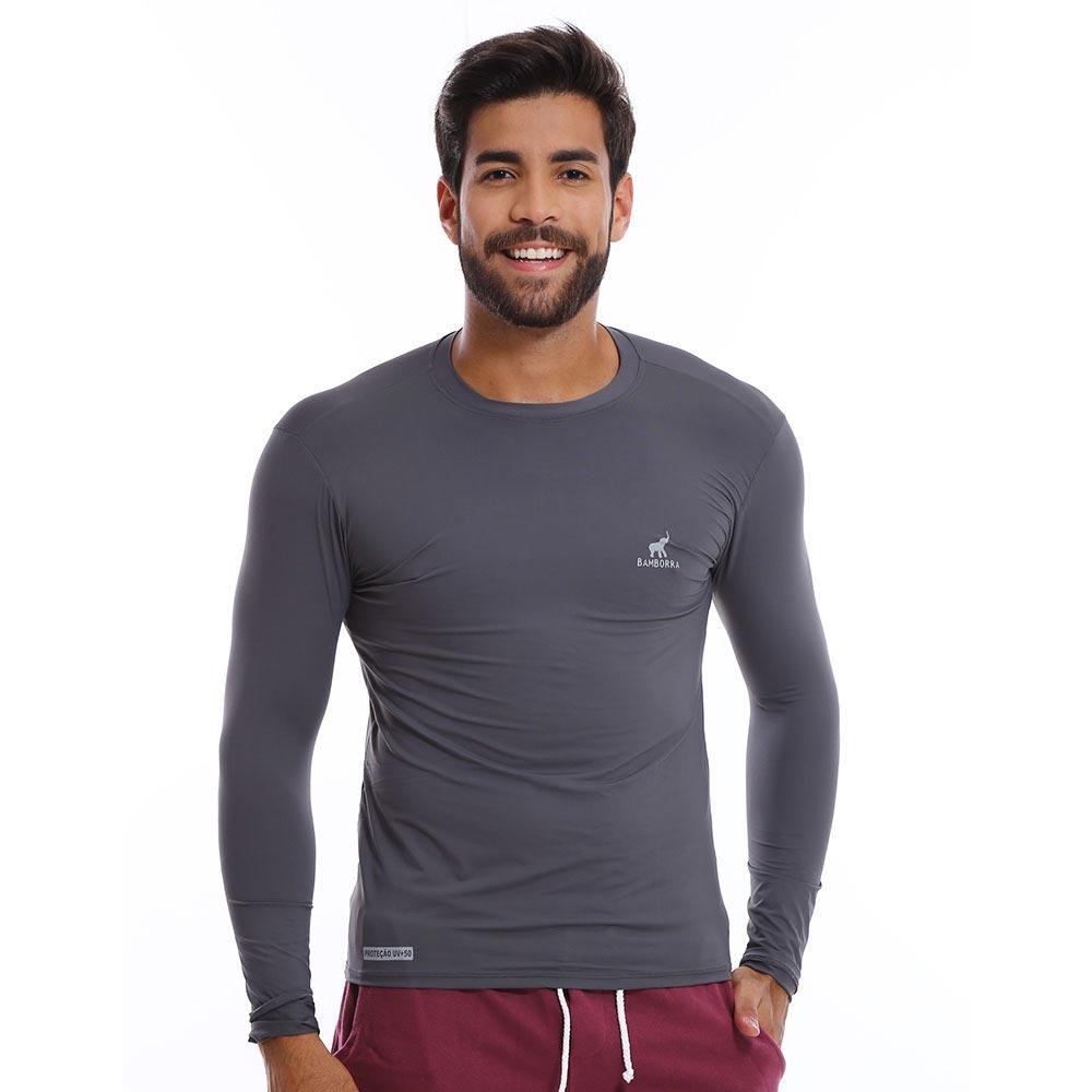 Camisa UV Bamborra Com Proteção Solar Fator 50 Cinza