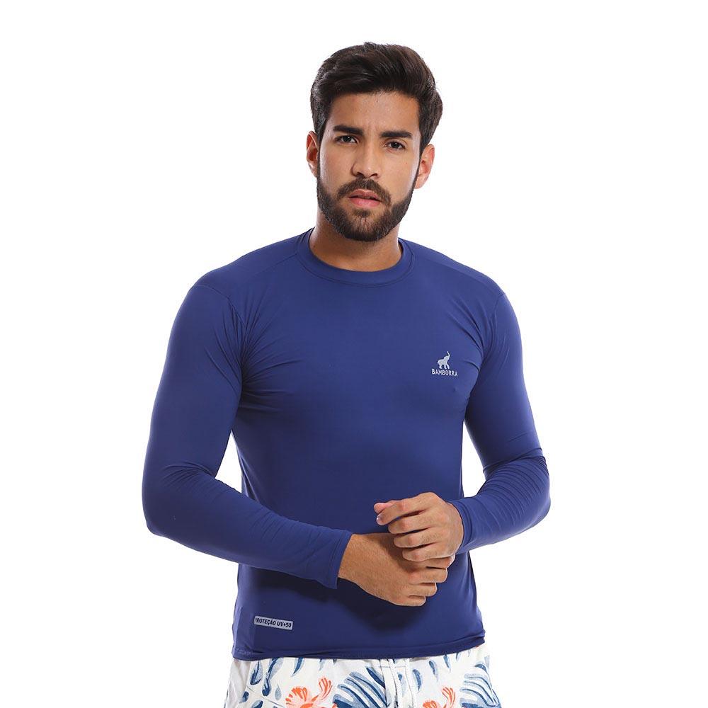 Camisa UV de Proteção Solar Fator 50 Azul Marinho