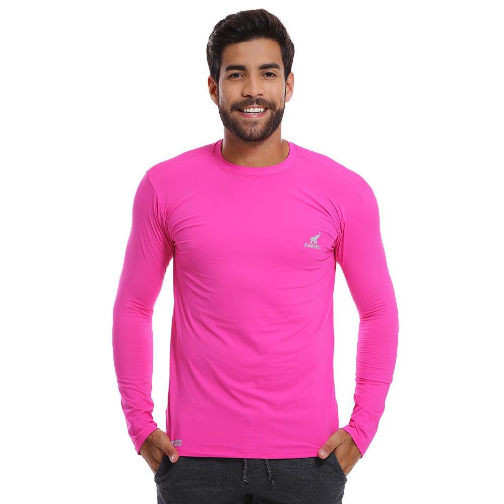 Camisa UV Masculina Com Proteção Solar Fator 50 Rosa