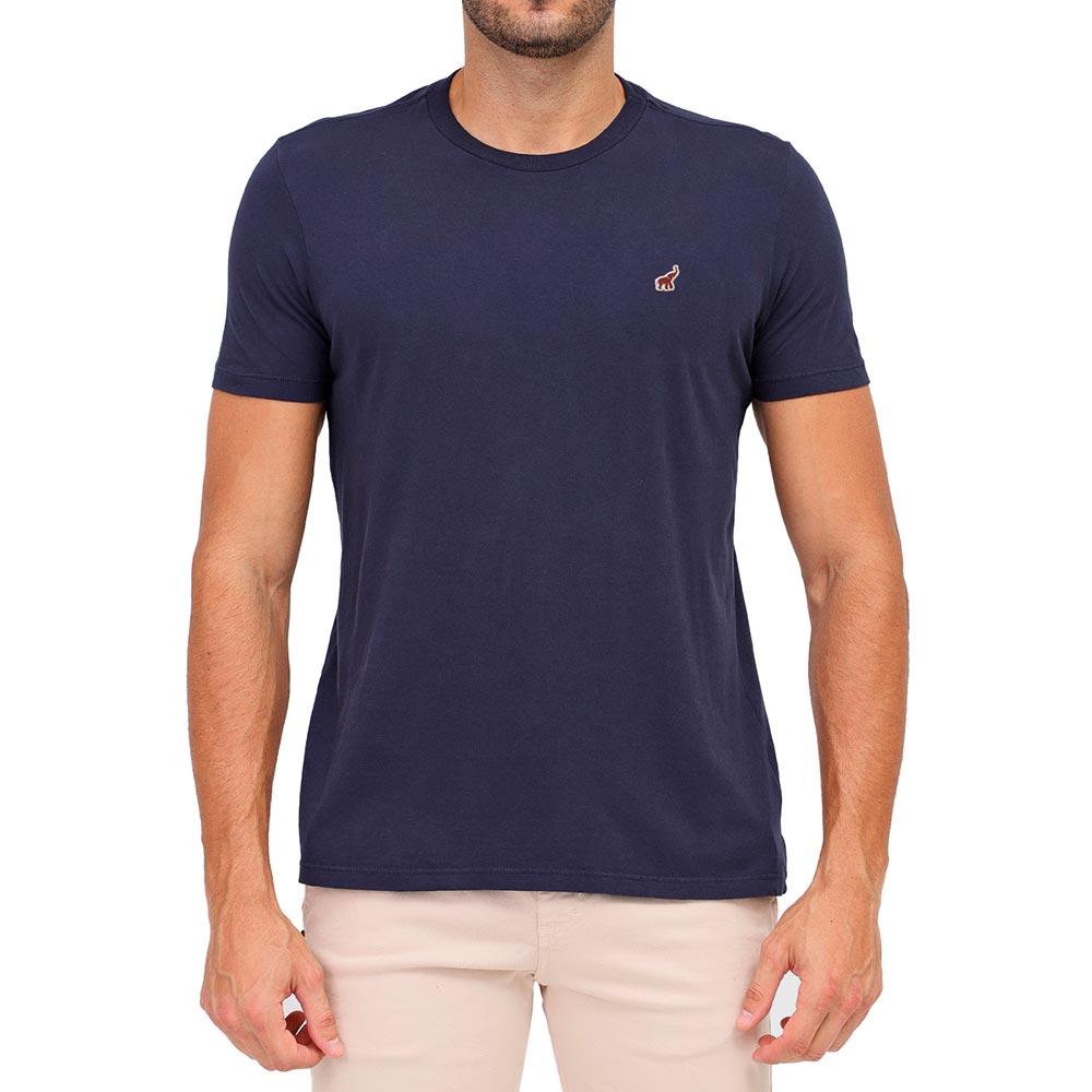 Camiseta Azul Marinho Masculina Básica Algodão Bamborra