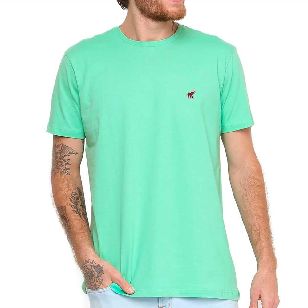 Camiseta Verde Claro Masculina Básica Algodão Bamborra