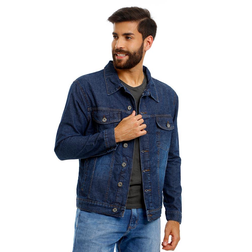 Jaqueta Jeans Masculina Premium Azul Tradicional Bamborra