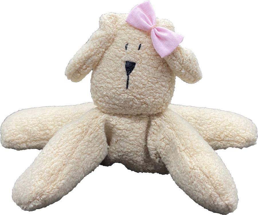 Almofada Térmica de Sementes e Ervas - RN Cachorro laço rosa