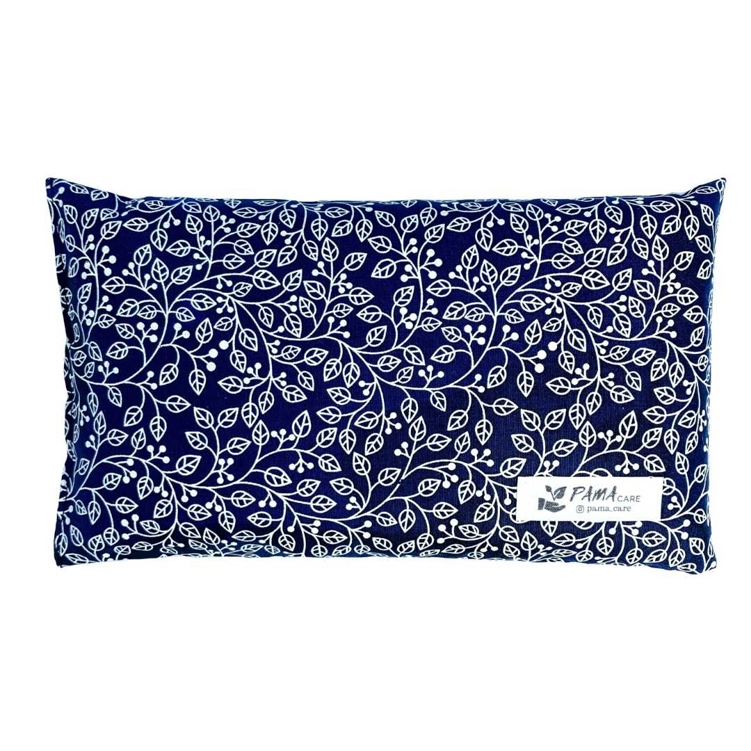 Almofada Térmica de Sementes e Ervas - Essencial Azul Marinho