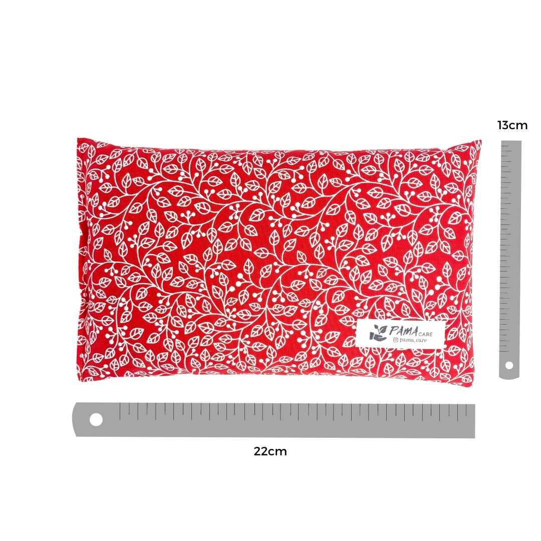 Almofada Térmica de Sementes e Ervas - Essencial Vermelha