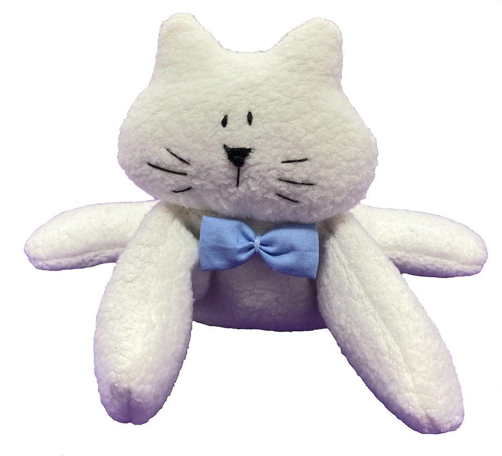 Almofada Térmica de Sementes e Ervas - RN Gato gravata azul