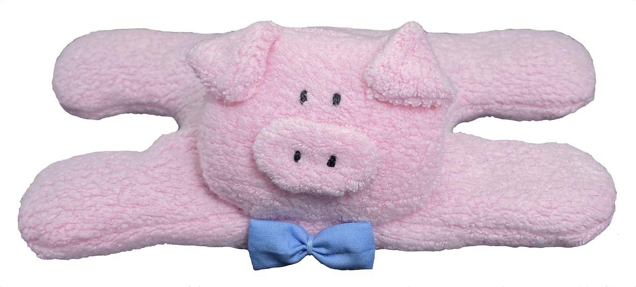 Almofada Térmica de Sementes e Ervas - RN Porco gravata azul