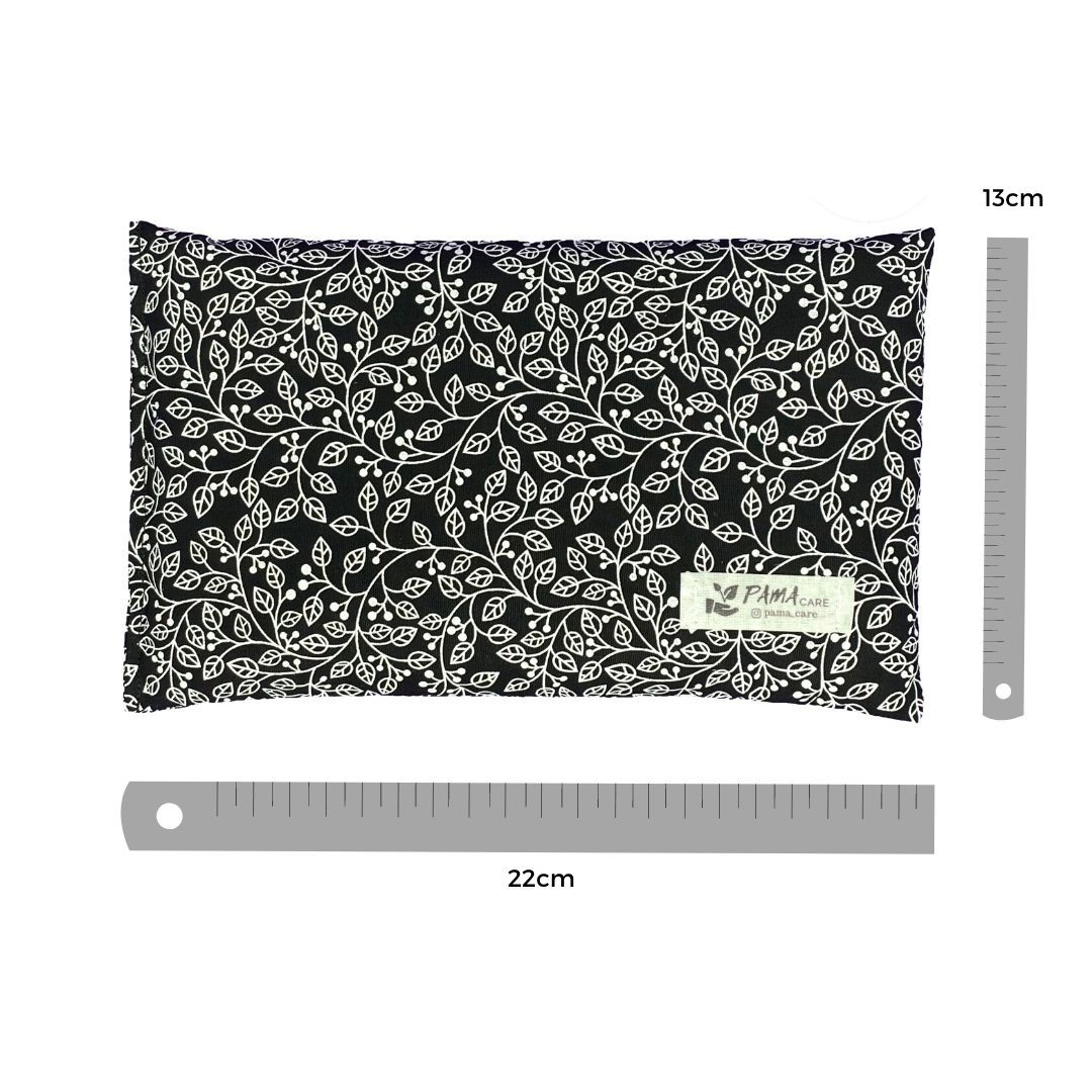 Almofada Térmica de Sementes e Ervas - Essencial Preta