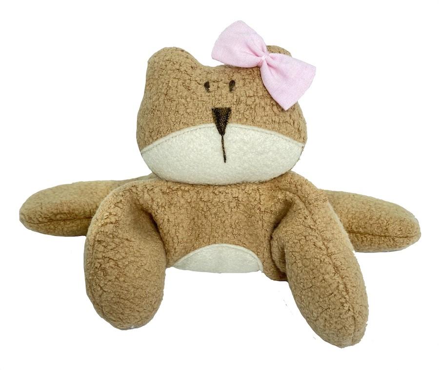 Almofada Térmica de Sementes e Ervas - RN Urso laço Rosa
