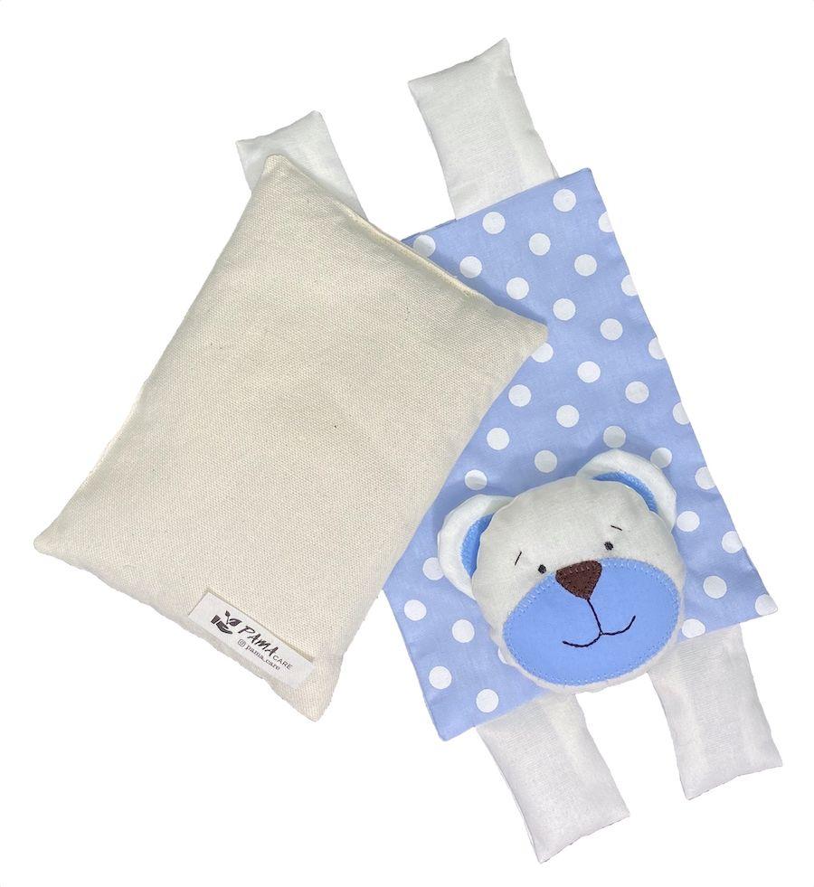 Almofada Térmica de Sementes e Ervas - Kids Urso Azul