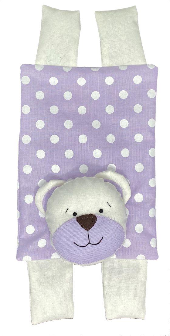 Almofada Térmica de Sementes e Ervas - Kids Urso Lilás