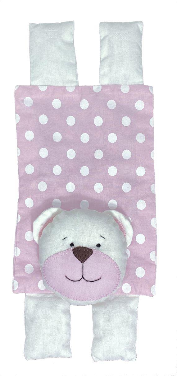 Almofada Térmica de Sementes e Ervas - Kids Urso Rosa