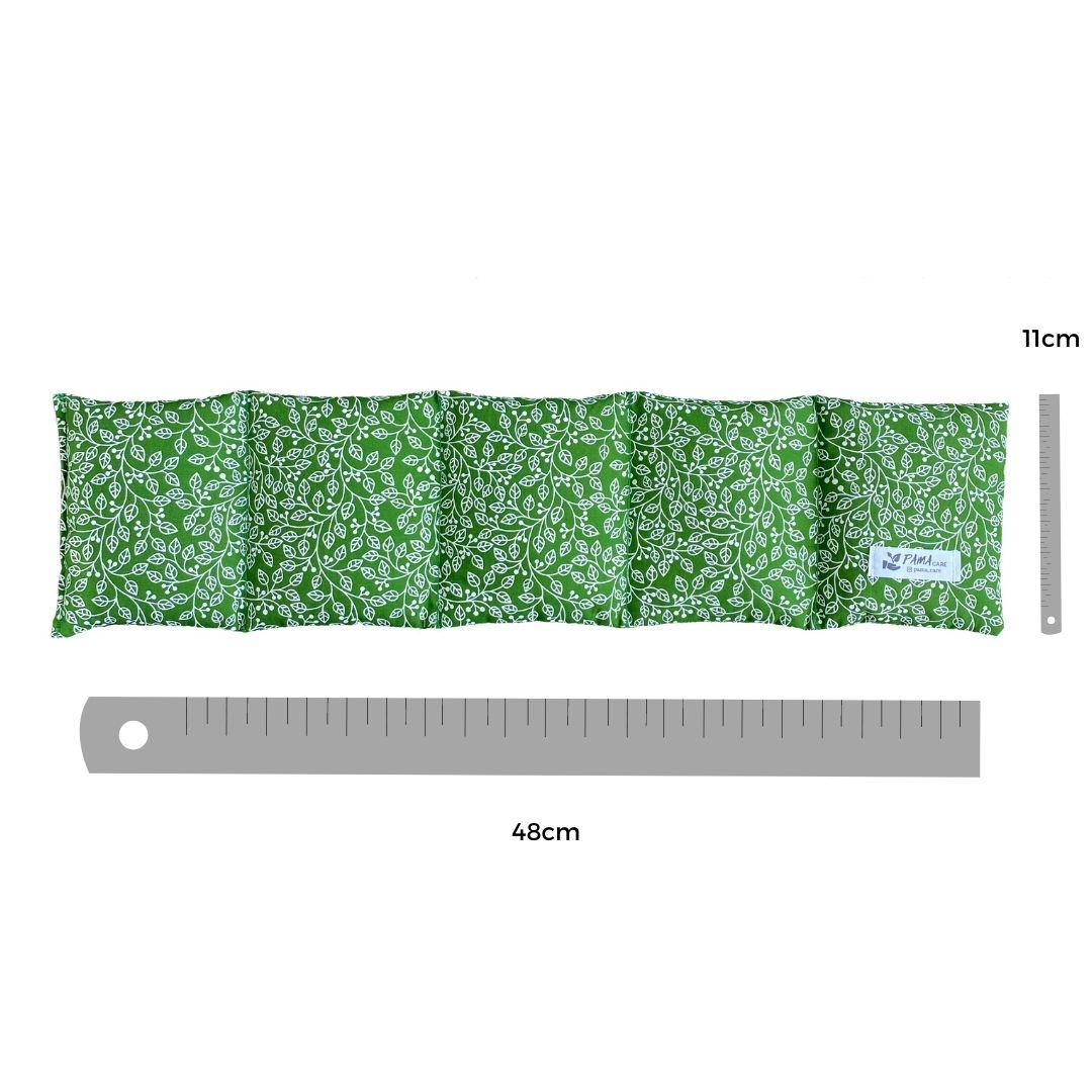 Almofada Térmica de Sementes e Ervas - Coluna Verde