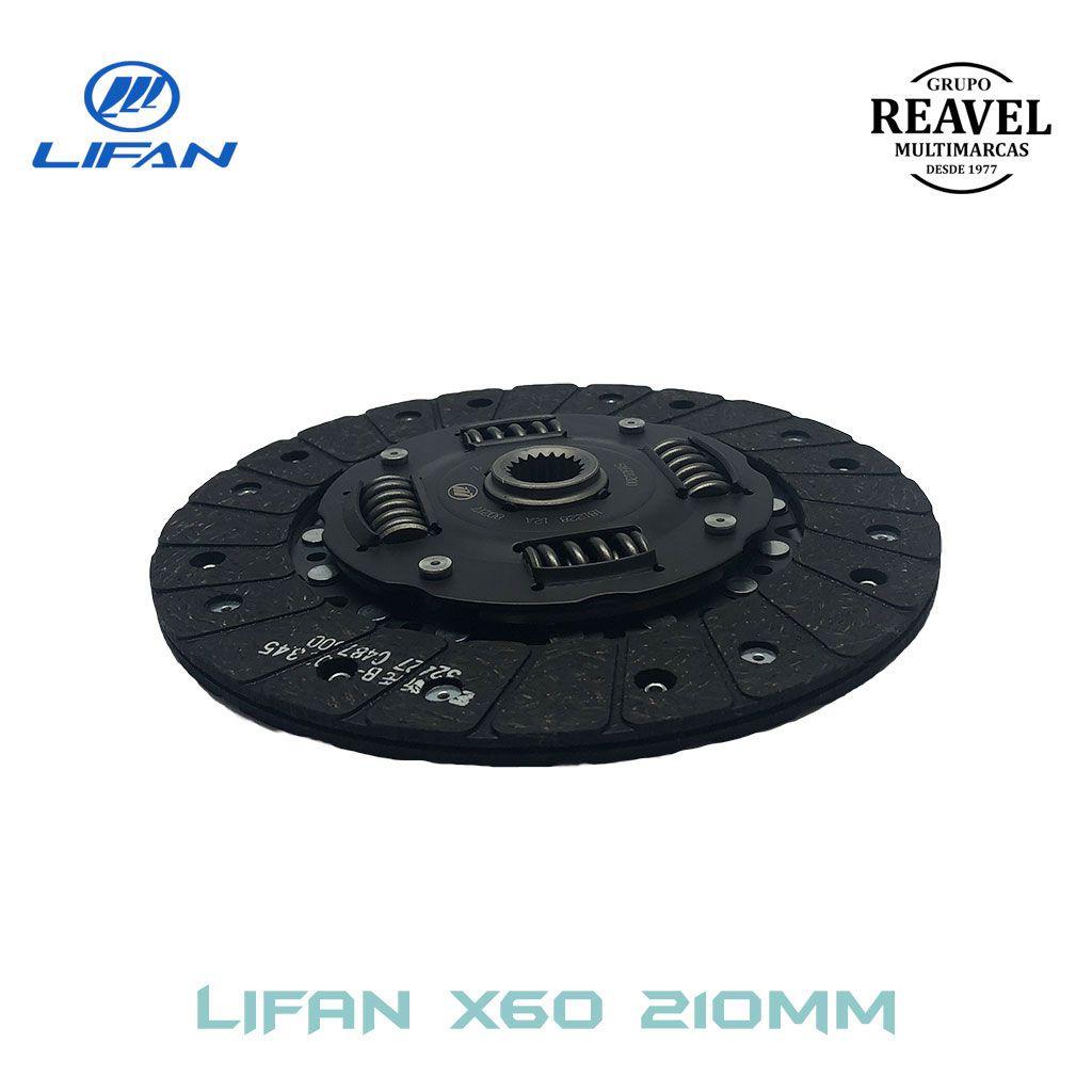 Disco de Embreagem (210MM) - LIFAN X60 - Ré Para Trás