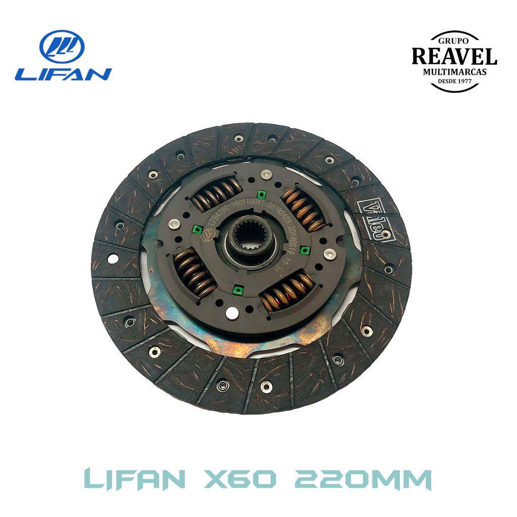 Disco de Embreagem Lifan X60 - Ré Para Trás (220MM)