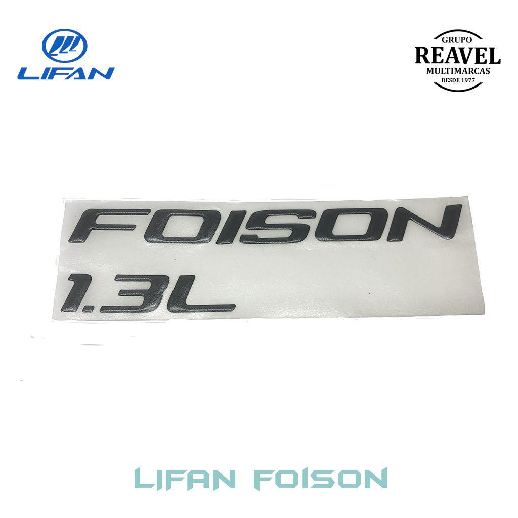 """Emblema Lateral """"FOISON 1.3 L"""" -  Lado Esquerdo - Lifan Foison"""