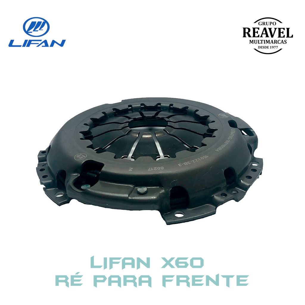 Plato de Embreagem - Lifan X60 Ré Para Frente