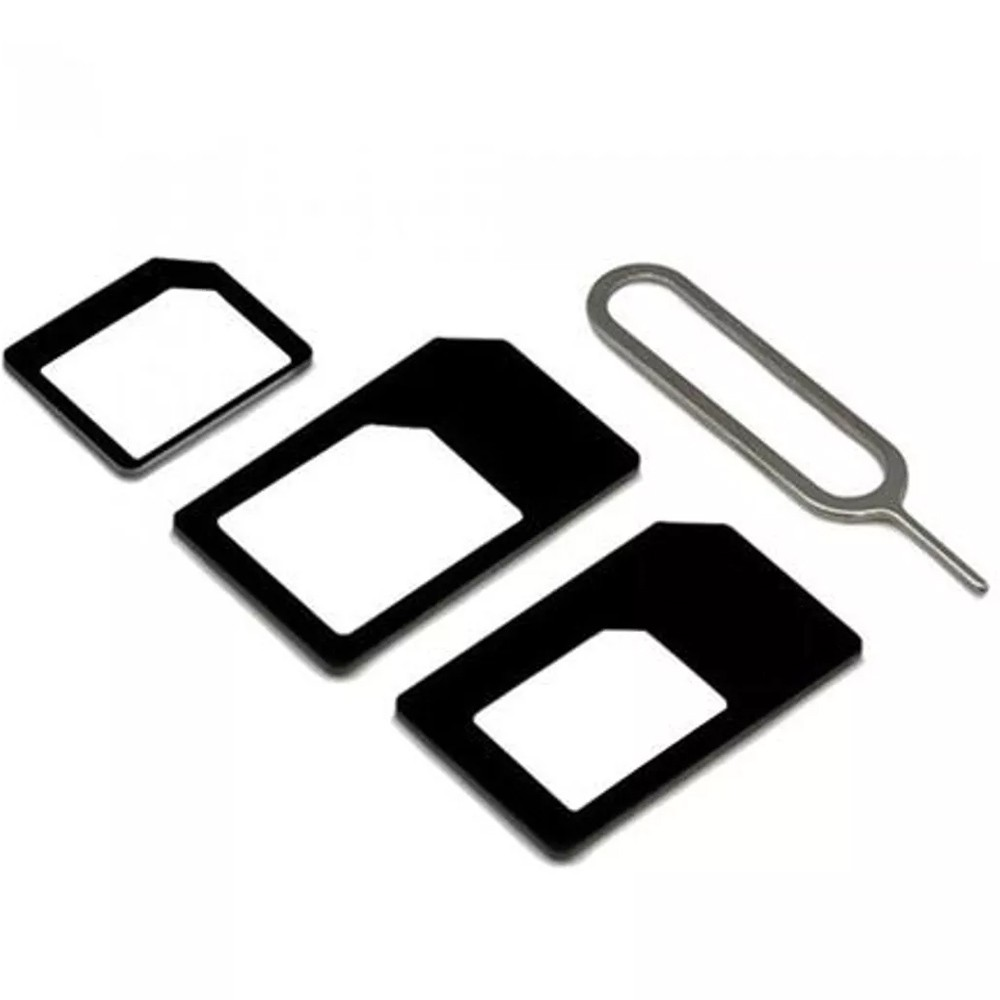 10un Adaptador Chip Micro Nano Sim Chave Card iPhone Android