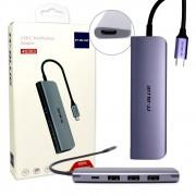 Adaptador Hub USB C Multifuncional 40303 It-Blue Para Macbook 5x1 USB HDMI e Carga Tipo C