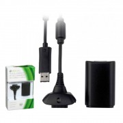 Bateria e Carregador para Controle de Xbox 360 KP-5123 Knup Kit Conjunto
