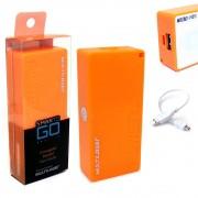 Bateria Portátil Externa Power Bank 4000mAh CB097 Smartogo Multilaser Usb Celular Tablet Laranja
