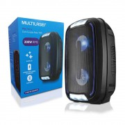 Caixa de Som Amplificada Mini Torre Party TWS Bluetooth 5.0 SP336 Multilaser 200W RMS Luzes Led Usb