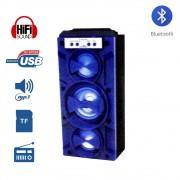 Caixa de Som Amplificada Portátil Bluetooth D-BH1085 Grasep Radio Fm Pen Drive Mp3 Azul
