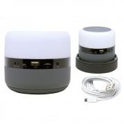 Caixa de Som Bluetooth Led 5w MY-002 Tomate Carregador por Indução Abajur Luminária Cinza