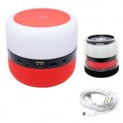 Caixa de Som Bluetooth Led 5w MY-002 Tomate Carregador por Indução Abajur Luminária Vermelha