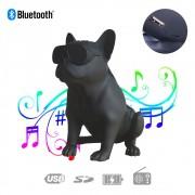 Caixa de Som Bluetooth Z13 Bulldog Francês Cachorro Portátil 10w Fm Preta