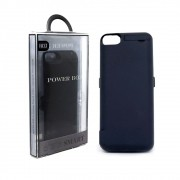Capa Carregadora Bateria Portátil Externa Power Bank para iPhone 6, 6S, 7 e 8 Usb Lighthing Preta