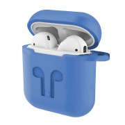 Capa Case Anti Queda Silicone para AirPods Apple iPhone Azul