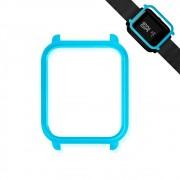 Capa Case Bumper Para Proteção Xiaomi Huami Amazfit Bip Azul Turquesa