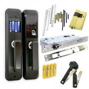 Fechadura Eletrônica Digital Biométrica SC1750 Semi Senha Cartão Touch Chaveiro 4 x 1
