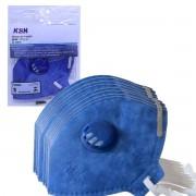 Kit 100u Máscara De Proteção c/ Válvula Ksn N95 PFF2 Inmetro