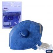 Kit 5un Máscara De Proteção c/ Válvula Ksn N95 PFF2 Inmetro