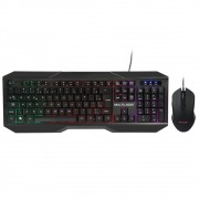 Kit Teclado e Mouse Gamer Led 2400dpi 7 Cores Cabo 1.5m Usb