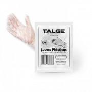 Luvas Plásticas Descartáveis Proteção e Segurança Polietileno 100un