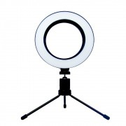 Luz Iluminador Ring Light 6 Polegadas 36 Led Usb Misto Mesa
