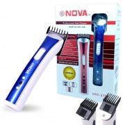 Máquina Multifuncional NHC-3780 Nova Aparador Cabelo Barba Bigode Azul