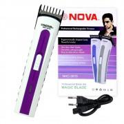 Máquina Multifuncional NHC-3915 Nova Aparador Cabelo Barba Bigode Roxo