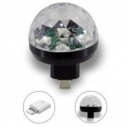 Mini Lâmpada Led Rgb Celular Smartphone Adaptador Lightning