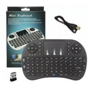 Mini Teclado Wireless Keyboard com Touchpad Usb Android Console e Tv