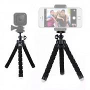 Mini Tripé Flexível Articulado c/ Suporte Celular Smartphone